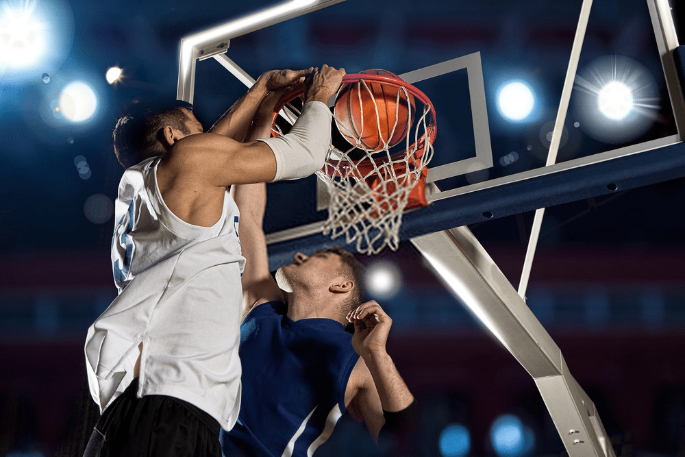 Basketball is the no.3 game the list of 10 most popular sports in the United States